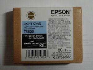 Epson T5805 Tinte light cyan  Stylus Pro 3800 3880 C13T580500 2018 OVP