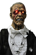 Walking Dead Life Size STANDING ZOMBIE GHOUL Halloween Horror Prop-Light up Eyes