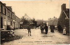 CPA  Environs de Cherbourg - Auderville - La Rue principale    (209333)