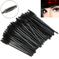 100PCS Disposable Eyelash Brush Mascara Wands Applicator Spoolers Makeup Mini