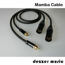 2x 10m Adapterkabel DYNAMIC /Mamba Cable/XLR Cinch male / Kauf nur 1x - aber TOP