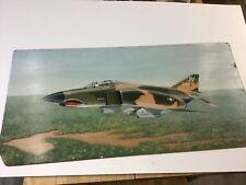 Large Oil Painting F 4 Phantom Vietnam Era With Original Pilot Photo
