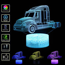 Truck Car 3D LED Night Light 7 Colors Cartoon Desk Lamp touch Control Kids GIFT