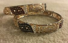 Zircon Gold Plated Bangles Traditional Indian Bracelet Stones Wedding Bridal