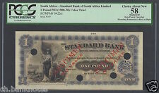 South Africa One Pound ND(1900-20) PS422ct Specimen Color Trial AUNC