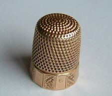 More details for a good quality, antique victorian 14ct solid gold thimble, c1888