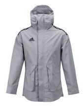 Chaqueta de Abrigo de Lluvia BNWT Adidas Tango futuro todo el tiempo Climastorm Gris BQ6858