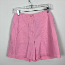 Jones New York Sport 4 Shorts Pink High Waisted Side Pockets Cotton Front Zip