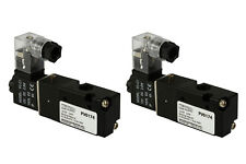 2x 12V DC Solenoid Air Pneumatic Control Valve 3 Port 3 Way 2 Position 1/8