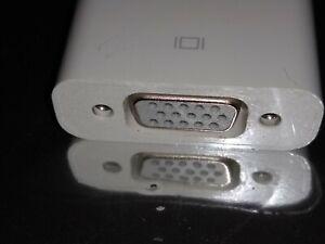 Genuine APPLE A1307 Mini DisplayPort to VGA Adapter Thunderbolt Lightning Used
