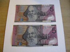 2 x 2001 AUSTRALIA $5 Dollars Commemorative Banknote Polymer Paper Money
