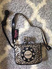 Betsey Johnson Betsey Ville Retro Ring Me Telephone Purse Handbag Black & Grey