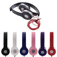 STEREO HEADPHONES DJ STYLE FOLDABLE HEADSET EARPHONE OVER HEAD MP3/4 IPOD 3.5MM