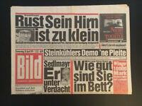 BILD ZEITUNG vom 18. April 1991 Geschenk zum 30. Geburtstag mit USTINOV M. Rust