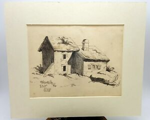 Welsh Country Houses 19th century Sketch by pencil, signed 1860