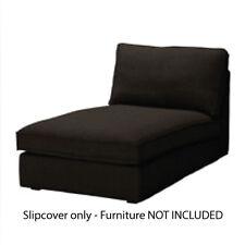 IKEA Kivik Chaise Lounge Cover Corduroy Slipcover - Tranås Black New