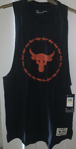 Under Armour Project Rock Charged Cotton Vest - BNWT - Size Medium