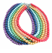 Free Shipping Artificial Pearl Necklace Pendants Bead Charming 8mm 42cm Length