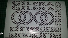 Gilera DNA Decals/Stickers EXCLUSIVE B & W CARBON DESIGN 50 70 125 172 180 210