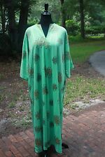 Vintage TV Loungers House Dress Caftan 3/4 Sleeves w/ pockets Loungewear Gown