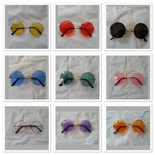 Blue/Red/Pink/Clear/Purple / Black Round  Hippie Peace Glasses 60's 70's Party