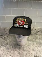 Vintage 90s San Francisco 49ers XXIX Superbowl NFC Champs Snapback Hat Cap