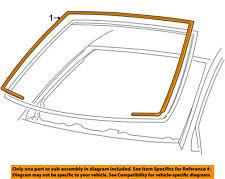 FORD OEM Windshield-Reveal Molding 4W7Z5403144AA