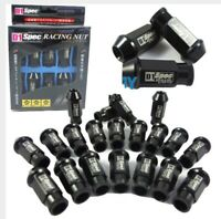 BLACK 20 Pieces D1SPEC Light Weight Billet Racing Wheel Lug Nut Nuts M12x1.25