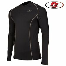 2019 Klim Aggressor Shirt 1.0 Black Snowmobile Motorcycle Base Layer MD