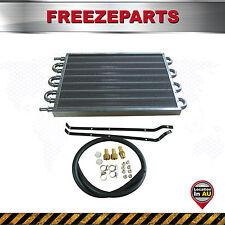 8 Row Aluminum Remote Transmission Oil Cooler Auto-Manual Radiator Converter Kit
