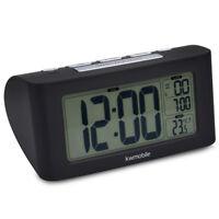Digital Wecker Nap Timer batteriebetrieben Snooze Funktion Temperatur Tischuhr