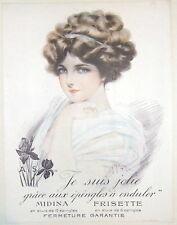 """Maurice Milliere Original Poster """"Je suis jolie grâce aux épingles à onduler"""""""