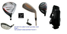 +2 INCH TALL MENS FULL GOLF CLUB SET w60 DRIVER+5 WOOD+HYBRID+IRONS+BAG+PUTTER