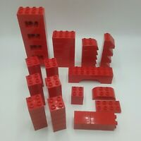 Duplo Red 2x4 2x2 2x8 Arch 2x4 Square Arch 2x4 Double Curve 2x3 Curve 2x2 Slope