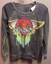 $73 NWT Trunk Brand Solid Grey Pullover Aerosmith Band Long Sleeve Sweatshirt S