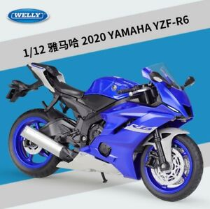 Welly 1:12 Yamaha YZF R6 Motorcycle Bike Model New in box