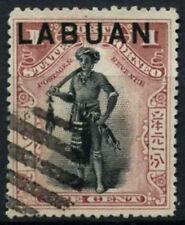 Labuan 1897-1901 SG#89ba, 1c Dyak Chief P14.5-15 Cto Used #D54086