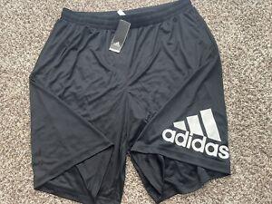 New Adidas Basketball Crazylight Team Shorts BR1953 Black SZ.3XL XXXL