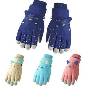 Boys Girls Outdoor Waterproof Windproof Ski Gloves For Kids Toddlers Winter Warm