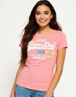 Superdry T shirt for womens pink