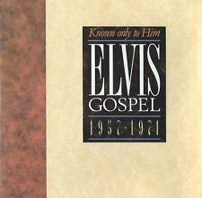 RARE CD ELVIS PRESLEY - KNOWN ONLY TO HIM -ELVIS' GOSPEL 1957-1971- USA-1989