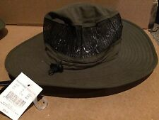 Polyester Outback Hat With Mesh Crown Dark Charcoal Color Size M/L New/Tag