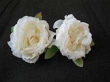 2 Marfíl Tejido Rosas Flores para hacerlo tú mismo Manualidades