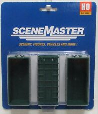 HO Scale Walthers SceneMaster 949-4100 Large Assembled Green Dumpsters (3) Pkg