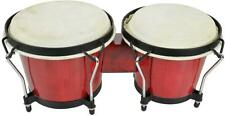 """Chord 176.422UK BG67 Bongos 6.5"""" and 7.5"""" Diameter with Tunable Hide Heads - Red"""