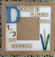 Personalised First Day at School Box Photo Frame Gift