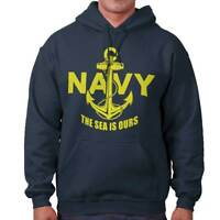 Navy Sea Is Ours Patriotic Military American Hoodies Sweat Shirts Sweatshirts