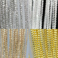 Wholesale 5m Metal Gold/Silver Plated Round Ball Chain Jewelry Findings 1.5mm