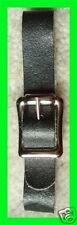12 New 1/2 Black Leather Pocket/Watch Fob Straps