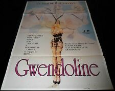 1984 Gwendoline ORIGINAL SPAIN POSTER Tawny Kitaen CULT Classic Exploitation